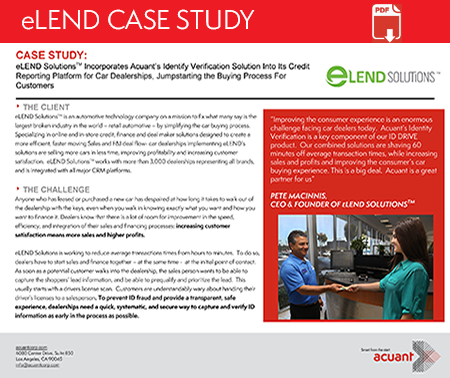 eLEND ID verification partner