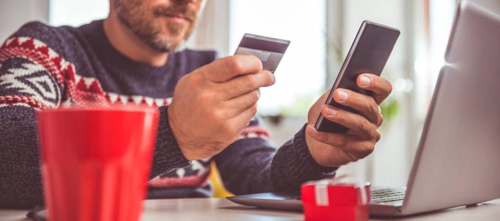 Using credit card for mobile and online shopping