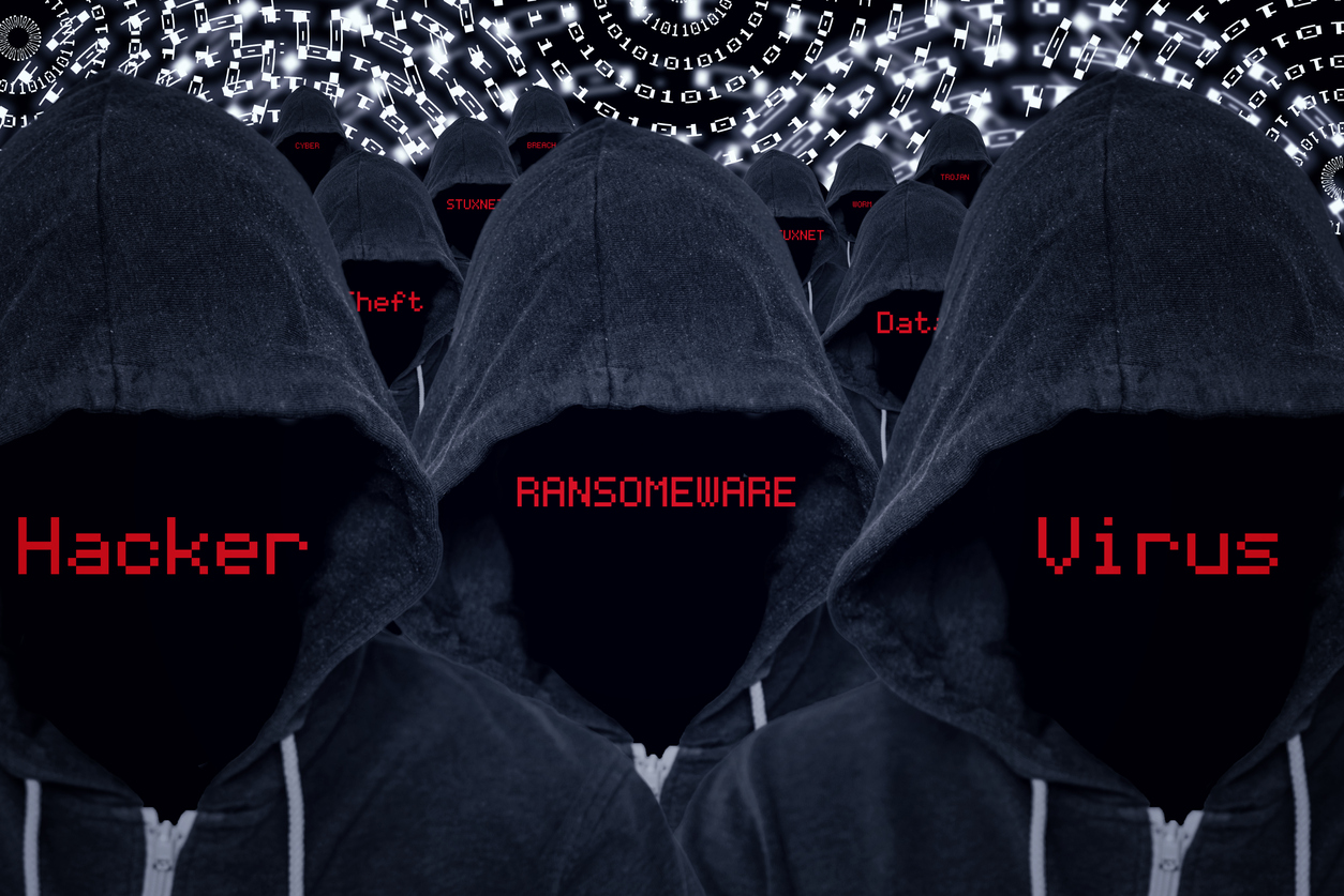 hooded computer hackers