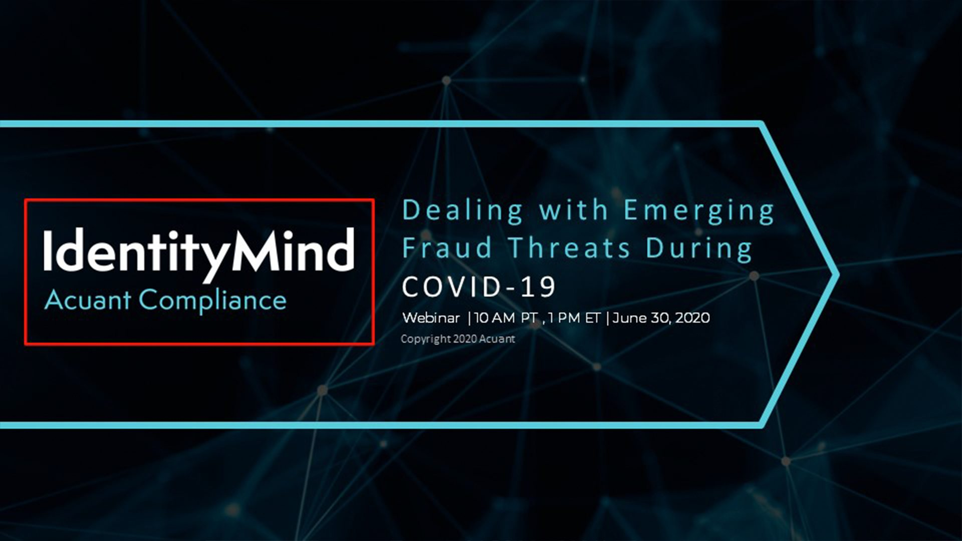 Webinar: Emerging Fraud Due to Covid-19