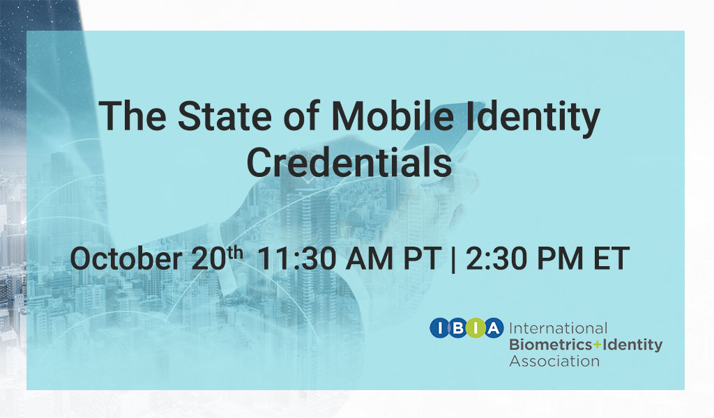 State of Mobile Identity Credentials Webinar
