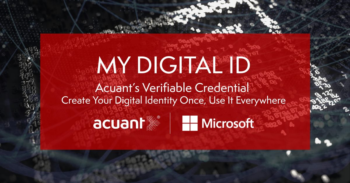 Introducing My Digital ID from Acuant  | Debuting in Microsoft Azure AD Verifiable Credentials